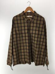 tence/atelier uniform shirt/シャツ/1/コットン/キャメル/チェック/TN-SH-0