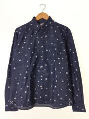 14AW/STAR PRINT FLANNEL B.D SHIRT/ネルシャツ/UE-145028/星/スター/BD