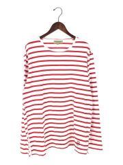 Breton Stripe HADWORTH/長袖Tシャツ/XL/コットン/ホワイト/ボーダー/カットソー