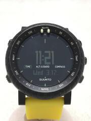 CORE/コア/クォーツ腕時計/デジタル/ラバー/ブラック/黒/イエロー