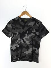 Tシャツ/S/コットン/グレー/カモフラ/迷彩/スタッズ/背タグ外れ有り