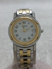 クリッパー/クォーツ腕時計/アナログ/ステンレス/ホワイト/シルバー/CL4.220/1230425