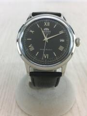22石/手巻き付/自動巻腕時計/アナログ/レザー/ブラック/黒/AC00-C1-B