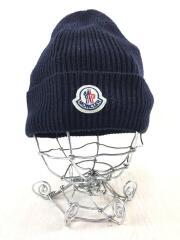 ニットキャップ/FREE/アクリル/ネイビー/E20910021700/ヘッドウェア/ニット帽/帽子/ロゴ