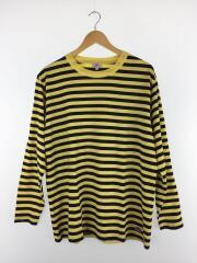 ×JOURNAL STANDARD/19SS/長袖Tシャツ/M/コットン/イエロー×ネイビー/ボーダー
