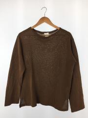 和紙カットソー/長袖Tシャツ/36/指定外繊維(和紙)/ブラウン/KS7SCS01