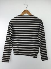 ボートネック/長袖Tシャツ/0/コットン/ホワイト×ブラック/ボーダー