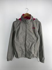 Resolve Womens Jacket/NF00AQBJ/ナイロンジャケット/S/ナイロン/グレー×ピンク
