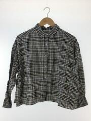 19SS/ワイドシャツ/長袖シャツ/O/リネン/ベージュ/チェック/09WFT191100
