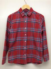 SHAGGY FLANNEL SHIRT/ネルシャツ/M/コットン/レッド/赤/チェック/NRW61305
