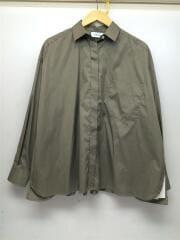 ビックポケットシャツ/長袖シャツ/FREE/コットン/カーキ/09WFT164174