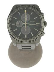 ソーラー腕時計/クロノグラフ/アナログ/ステンレス/グリーン/シルバー/V176-0AZ0
