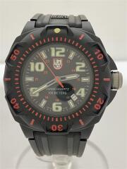 SENTRY 0200 SERIES/クォーツ腕時計/アナログ/ラバー/ブラック/黒/防水