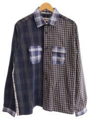 タグ付/0616089/長袖シャツジャケット/M/コットン/マルチカラー/総柄