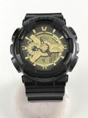 クォーツ腕時計・G-SHOCK/デジアナ/ラバー/GLD/ブラック