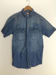 半袖シャツ/--/コットン/BLU