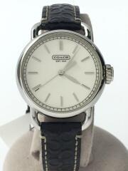クォーツ腕時計/CA.35.7.14.0461/アナログ/レザー/ホワイト/ブラック