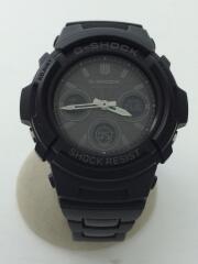 ソーラー腕時計・G-SHOCK/デジアナ/ステンレス/BLK/BLK