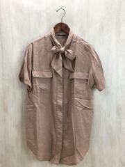 2019SS/アウトポケットロングシャツ/FREE/レーヨン/BRW/無地//半袖シャツ/