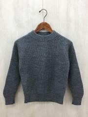 セーター(厚手)/one/ウール/GRY/ウール両畔プルオーバーニット/dr52-22m020