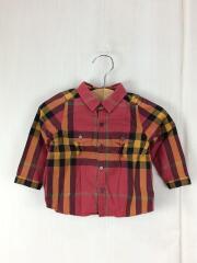長袖シャツ/80cm/コットン/チェック