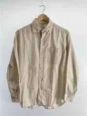 長袖シャツ/XS/コットン/CRM/無地/襟汚れ有/第一ボタン難有