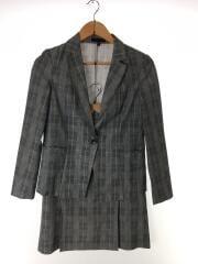 スーツ/7/ポリエステル/GRY/チェック