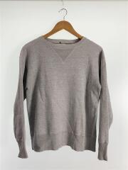 スウェット/36/コットン/GRY/裾・袖汚れ/左脇ダメージあり