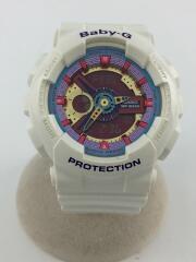 BA-112/海外モデル/クォーツ腕時計/デジアナ/ラバー/WHT