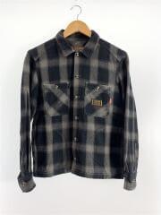 ネルシャツ/S/ウール/GRY/チェック