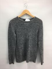 セーター(厚手)/1/ウール/GRY/無地/TMK-M132-KN011/カラーモヘアニット
