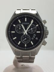 BY0140-57E/H610-T024564/クォーツ腕時計/アナログ/ステンレス/BLK/SLV