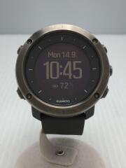 ソーラー腕時計/デジタル/ラバー/GRY/GRY