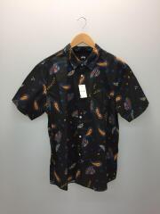 半袖シャツ/XL/コットン/BLK/総柄/CA28629 RN94974