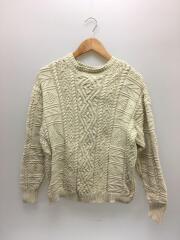 Vintage Aran Knit/11920525/セーター(厚手)/FREE/コットン/IVO/無地