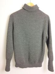 セーター(厚手)/S/ウール/GRY/無地/タートルネック/アンデルセンアンデルセン/タートルネック リブ