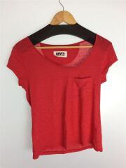 Tシャツ/M/リネン/RED/無地/マルタンマルジェラ/Martin Margiela/エムエムシックス