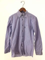 長袖シャツ/チェックシャツ/2/コットン/BLU/ギンガムCK/ギンガムチェック/BMW86-101