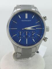 クォーツ腕時計/アナログ/ステンレス/BLU/SLV/J552-S097291/インディペンデント