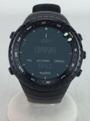 クォーツ腕時計/デジタル/ラバー/BLK/BLK/CR2032/スントコア/スント