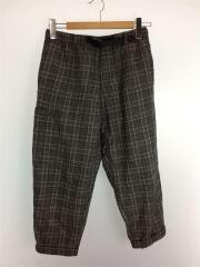 ボトム/WOOL BLEND RESORT PANTS/S/ポリエステル/GRY/チェック/GMP-18F012