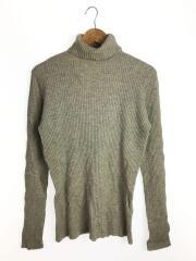 セーター(薄手)/ニット/タートルネック/ウール/BEG/フランス製/縦畝