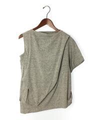 16ss/スビン天竺2ホールドレーププルオーバー/Tシャツ/38/コットン/グレー/灰色/中古