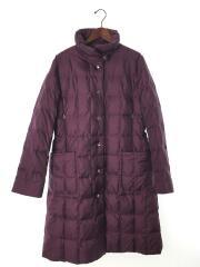 キルティングコート/ロングダウンジャケット/40/ポリアミド/パープル/紫/スナップボタン
