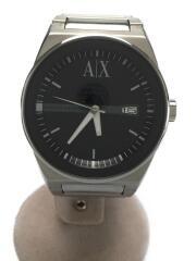 クォーツ腕時計/アナログ/--/BLK/SLV/AX2015