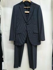 セットアップ/スーツ/A5/ウール/グレー/灰色/ストライプ/2Bテーラードジャケット/スラックスパンツ