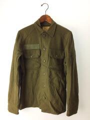 70s/US ARMY/WOOL FIELD SHIRT/長袖シャツ/XS/ウール/カーキ/無地/中古