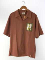 TWILL SS SHIRT/ツイル/オープンカラー半袖シャツ/L/ベージュピンク/タグ付