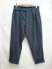 17AW/Two Pleats Trousers/2タック/カシミヤ混スラックスパンツ/32/ウール/グレー