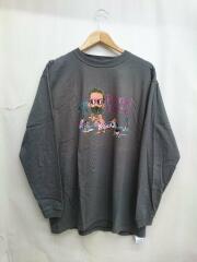 MELLOW/メロウ/L/SプリントTEE/長袖Tシャツ/M/コットン/グレー/灰/中古